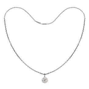 "Tresor Paris sterling silver 12mm crystal ball necklace 16"" - Product number 1474200"