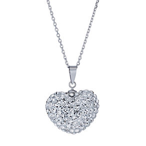Tresor Paris reversible white & gold crystal heart pendant - Product number 1474219