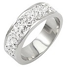 Tresor Paris 6mm stainless steel white crystal ring size N - Product number 1474243