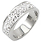 Tresor Paris 6mm stainless steel white crystal ring size P - Product number 1474278
