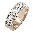 Tresor Paris 6mm 18ct rose gold-plated crystal ring size L - Product number 1474359