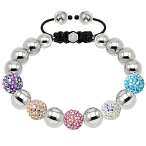 Tresor Paris steel and mixed 10mm crystal ball bracelet - Product number 1474510