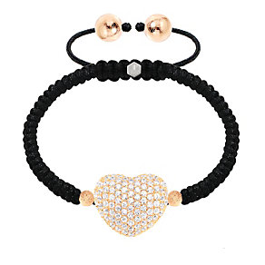 Tresor Paris 18ct rose gold-plated crystal heart bracelet - Product number 1474650