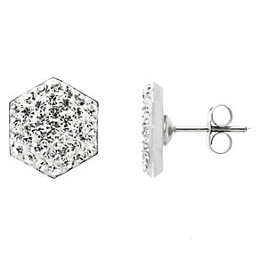 Tresor Paris hexagonal 8mm crystal stud earrings - Product number 1474685