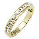 Tresor Paris 4mm gold-plated white crystal ring size P - Product number 1474812