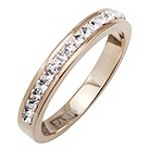 Tresor Paris 4mm rose gold-plated white crystal ring size L - Product number 1474820