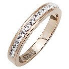 Tresor Paris 4mm rose gold-plated white crystal ring size N - Product number 1474839