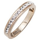 Tresor Paris 4mm rose gold-plated white crystal ring size P - Product number 1474855