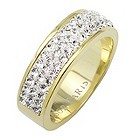 Tresor Paris 6mm gold-plated white crystal ring size L - Product number 1474871