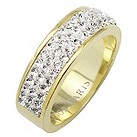 Tresor Paris 6mm gold-plated white crystal ring size N - Product number 1474901