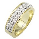 Tresor Paris 6mm gold-plated white crystal ring size P - Product number 1474936