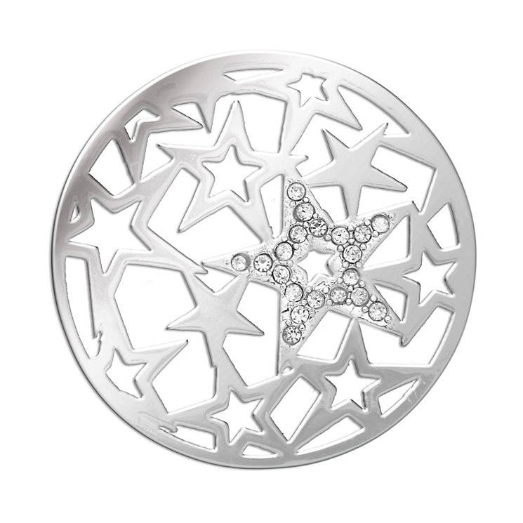 Lucet Mundi silver tone crystal starlight coin - large - Product number 1475053