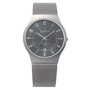Skagen Klassik ladies' titanium mesh bracelet watch - Product number 1476521