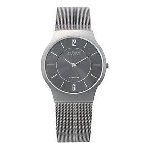 Skagen Klassik ladies' titanium mesh bracelet watch - Product number 1476556