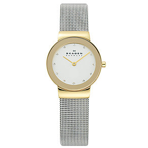 Skagen Klassik ladies' two colour mesh bracelet watch - Product number 1476726
