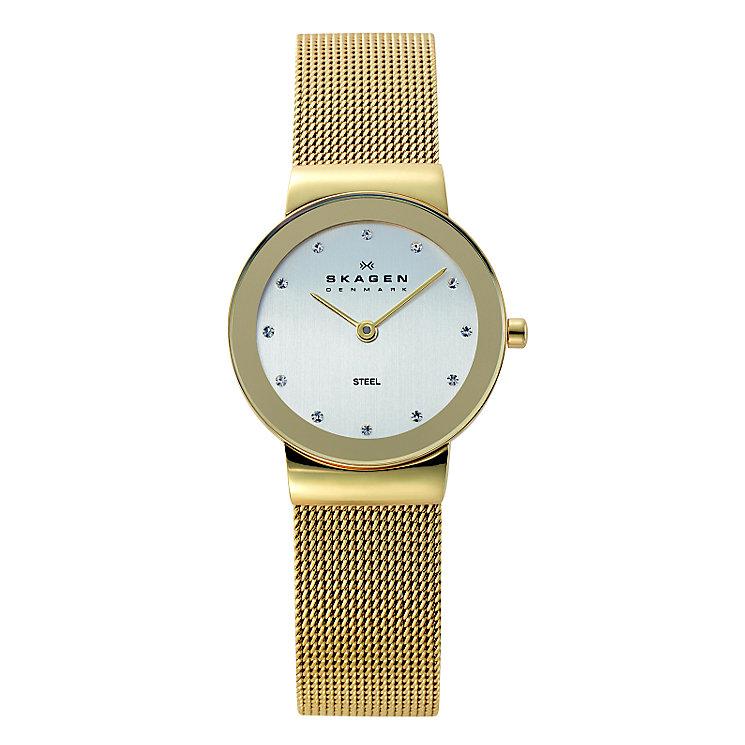 Skagen Klassik Ladies' Gold Tone Mesh Bracelet Watch - Product number 1476734
