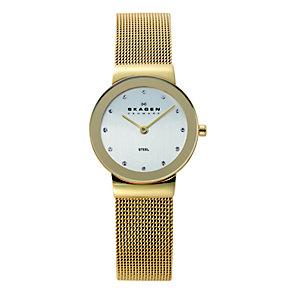 Skagen Klassik ladies' gold-plated mesh bracelet watch - Product number 1476734