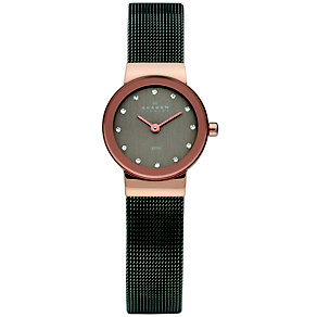 Skagen Klassik ladies' rose gold-plated mesh bracelet watch - Product number 1476750