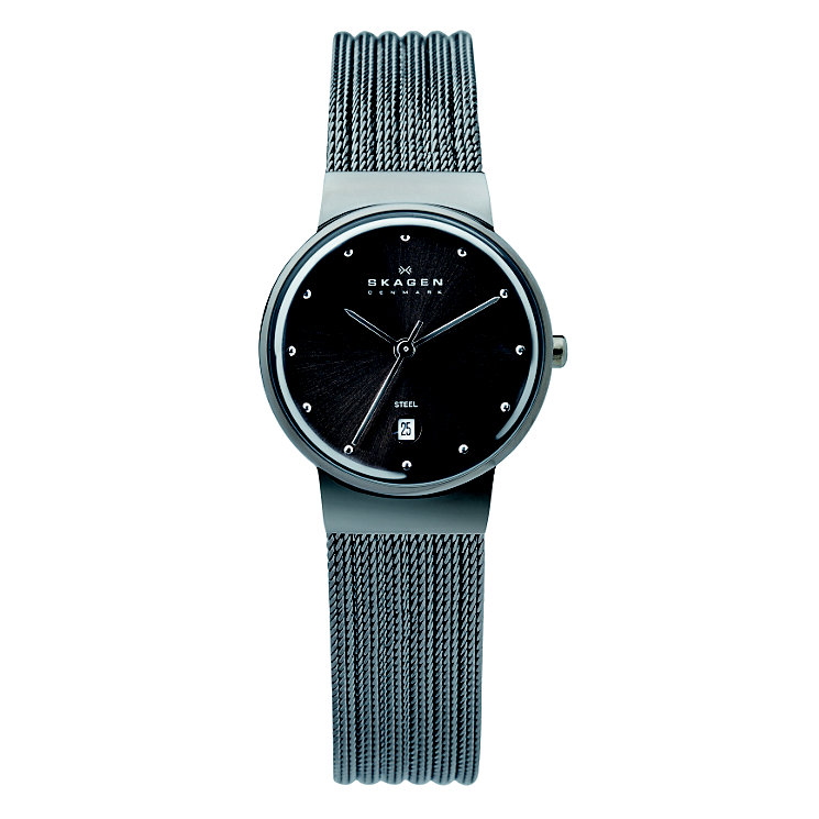 Skagen Ancher Ladies' Stainless Steel Mesh Bracelet Watch - Product number 1476858