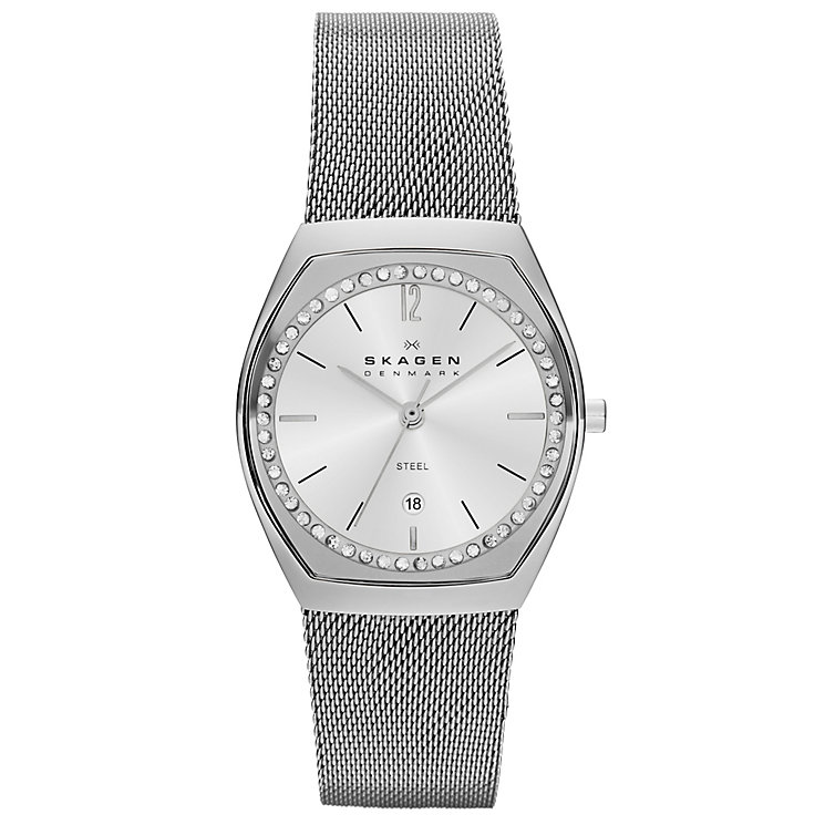 Skagen Klassik Ladies' Stainless Steel Tonneau Mesh Watch - Product number 1476890