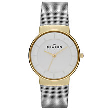 Skagen Nicoline Ladies' Two Colour Mesh Bracelet Watch - Product number 1476947