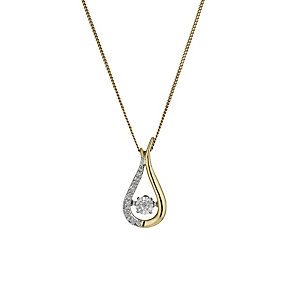 Diamonds in Rhythm 9ct Gold Illusion set Diamond Pendant - Product number 1477501