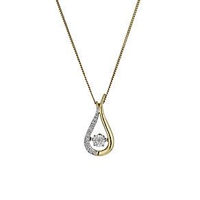 Diamonds in Rhythm 9ct Gold Illusion set Diamond Pendant - Product number 1477501