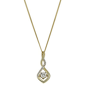 Diamonds in Rhythm 9ct Gold Diamond Twist Pendant - Product number 1477528