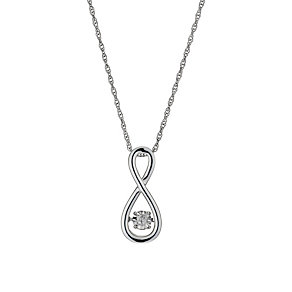 Diamonds in Rhythm Diamond Figure Of 8 Pendant - Product number 1477633