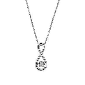 Diamonds in Rhythm Diamond Figure Of Eight Pendant - Product number 1477633