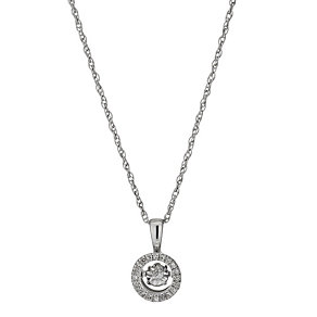Diamonds in Rhythm Round Illusion Set Diamond Pendant - Product number 1477641