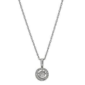 Diamonds in Rhythm Round Illusion Set Diamond Pendant - Product number 1477641