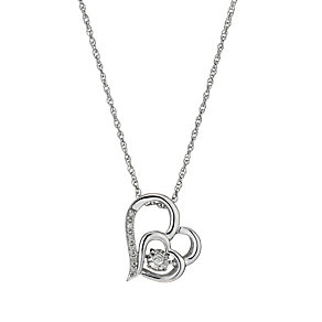 Diamonds in Rhythm Diamond Double Heart Pendant - Product number 1477668