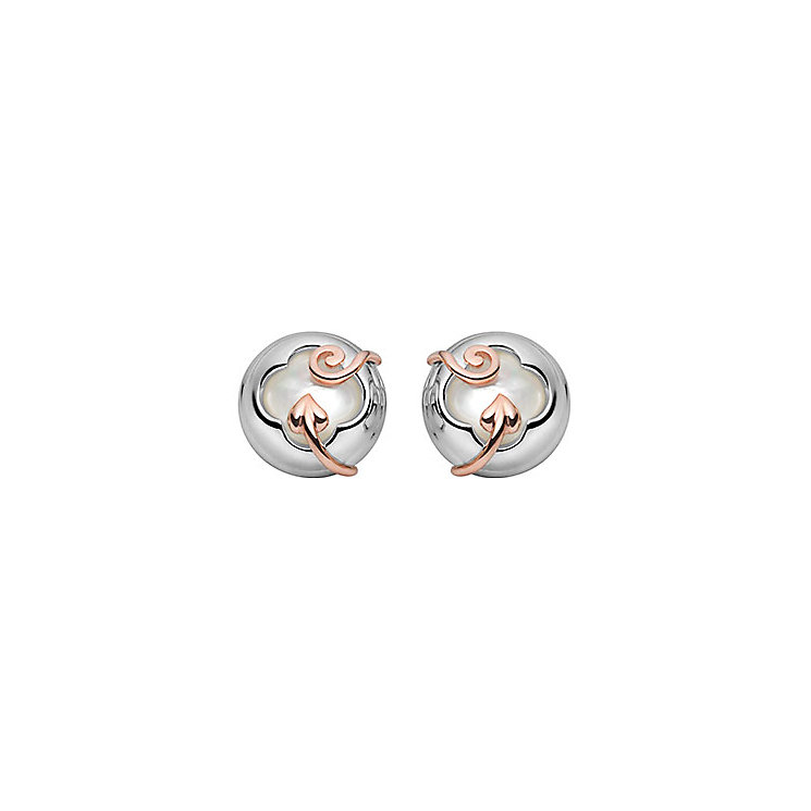 Clogau Gold Silver & 9ct Rose Gold Tudor Court Stud Earrings - Product number 1477811