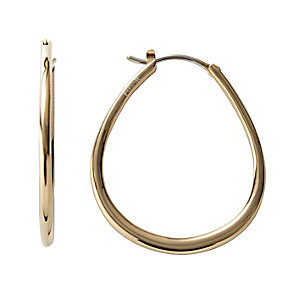 Fossil gold-plated teardrop hoop earrings - Product number 1478370