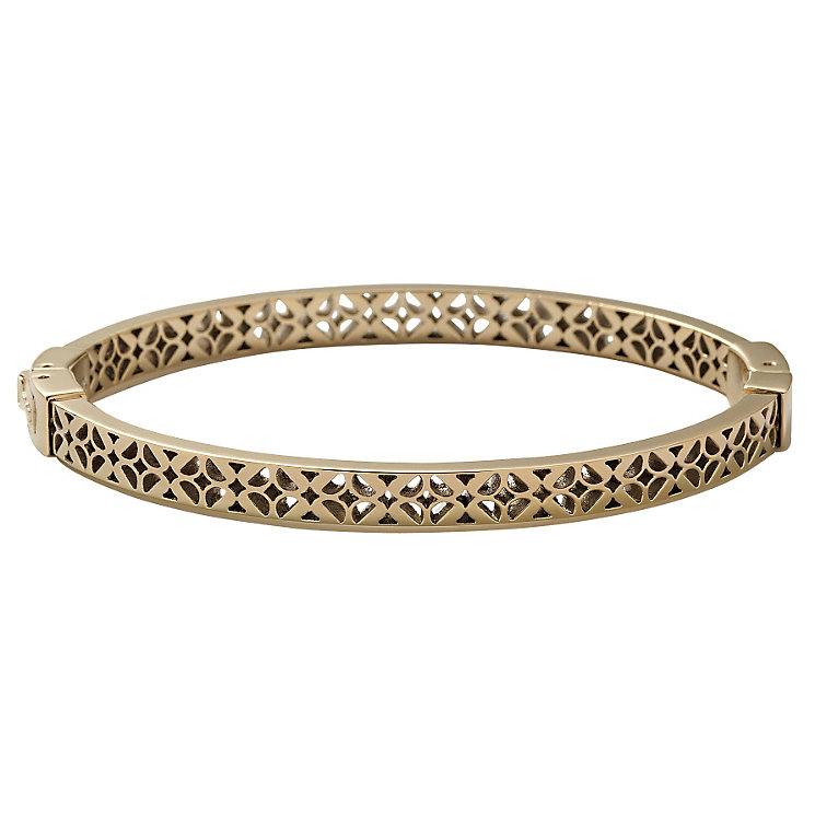 Fossil gold-plated cut out bangle - Product number 1478451