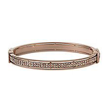 Fossil rose gold-plated stone set bangle - Product number 1478613