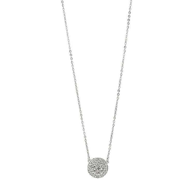 Fossil stainless steel pave crystal disc necklace - Product number 1478648