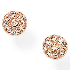 Fossil rose gold-plated pave crystal stud earrings - Product number 1478761