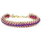 Fossil gold-plated pink & purple bracelet - Product number 1478850
