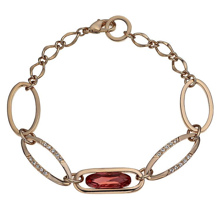 Radiance Gold-Plated Swarovski Pink Crystal Bracelet - Product number 1479016