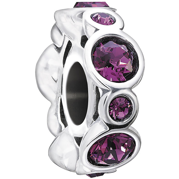 Chamilia sterling silver crystal February birthstone bead - Product number 1479431