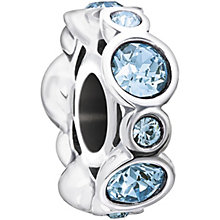 Chamilia sterling silver crystal March birthstone bead - Product number 1479458