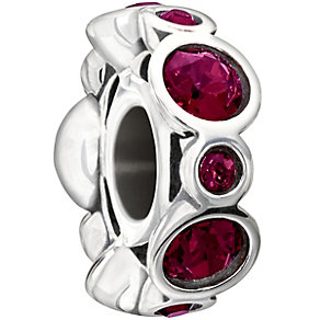 Chamilia sterling silver crystal July birthstone bead - Product number 1479504