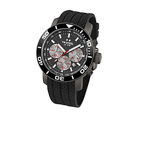TW Steel men's titanium black rubber strap watch - Product number 1479695