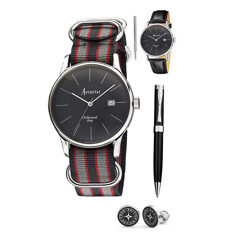 Accurist Men's Vintage Watch, Strap, Pen & Cufflink Set - Product number 1479768