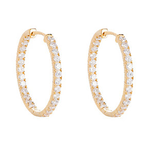 Gaia Gold-Plated Cubic  Zirconia Hoop Earrings - Product number 1479849