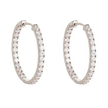 Gaia Sterling Silver Cubic Zirconia Hoop Earrings - Product number 1479857