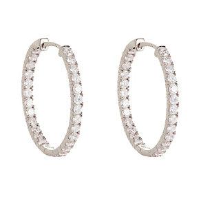 Gaia Sterling Silver Cubic Zirconia Hoop Earrings - Product number 1479857
