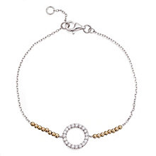 Gaia Sterling Silver & Gold-Plated Stone Set Circle Bracelet - Product number 1479989